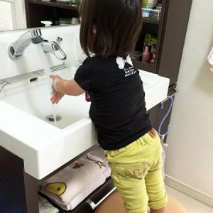 ダウン症児の成長日記 手洗い