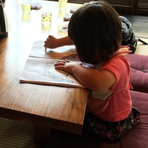 ダウン症児の成長日記 ぬり絵