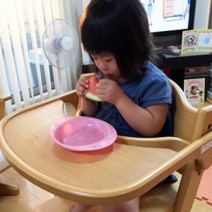 ダウン症児の成長日記 スイカ