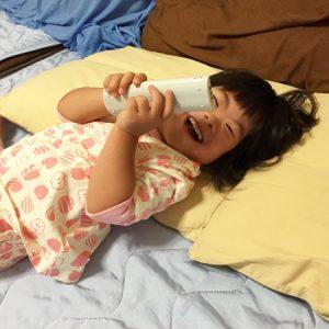 ダウン症児の成長日記 寝る前
