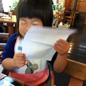 ダウン症児の成長日記 カフェにて