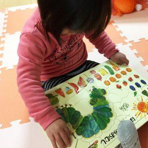 ダウン症児の成長日記 はらぺこあおむしパズル