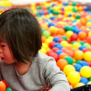 ダウン症児の成長日記 ボール遊び