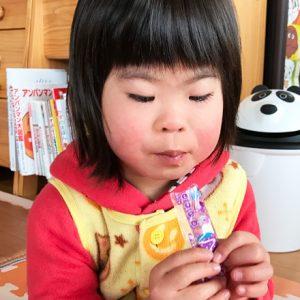 ダウン症児の成長日記 スティックゼリー