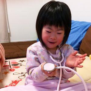 ダウン症児の成長日記 病院ごっこ
