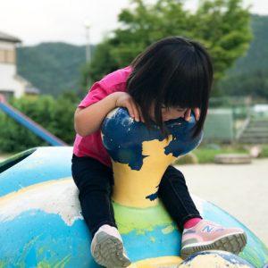 ダウン症児の成長日記 園庭にて