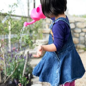 ダウン症児の成長日記 水やり