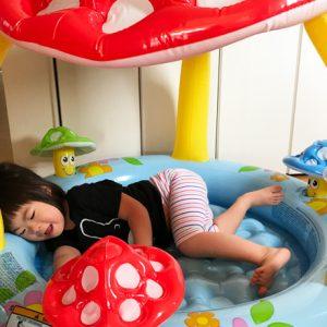 ダウン症児の成長日記 プール