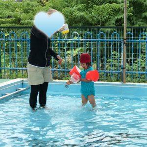 ダウン症児の成長日記 プール遊び