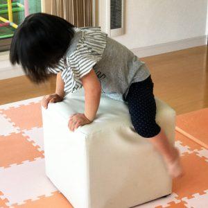ダウン症児の成長日記 跳び箱の練習