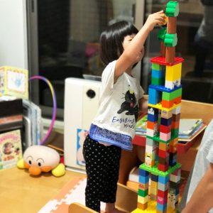 ダウン症児の成長日記 ブロックア遊び