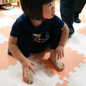 ダウン症児の成長日記 テーピング