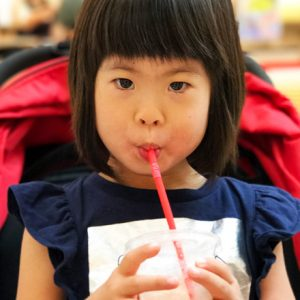 ダウン症児の成長日記 ドリンク