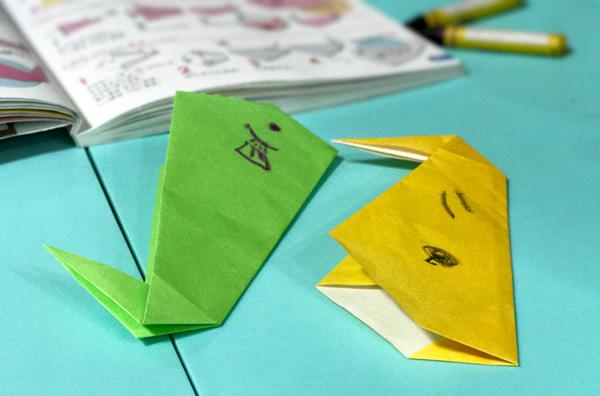 ダウン症児の成長日記 折り紙 魚