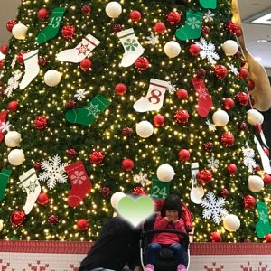 ダウン症児の成長日記 ショッピングモール クリスマスツリー