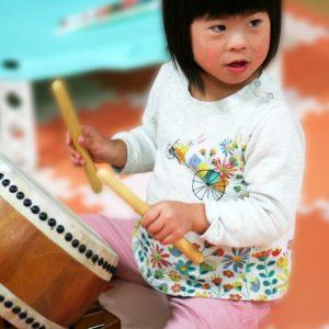 ダウン症児の成長日記 和太鼓