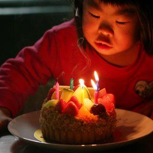 ダウン症児の成長日記 5際誕生日ケーキ