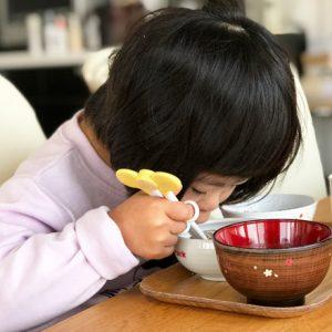 ダウン症児の成長日記 朝食