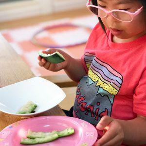 ダウン症児の成長日記 スイカを食べ尽くす