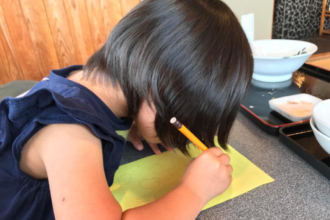 ダウン症児の成長日記 七夕短冊に願いごとを書く