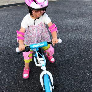 ダウン症児の成長日記 バランスバイク