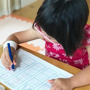 ダウン症児の成長日記 文字書き