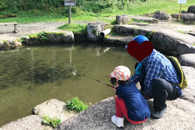 ダウン症児の成長日記 魚釣り
