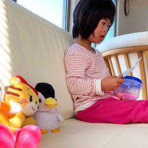 ダウン症児の成長日記 朝の様子