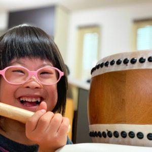 ダウン症児の成長日記 太鼓の練習