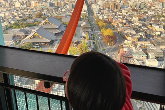 ダウン症児の成長日記 京都タワーからの眺め