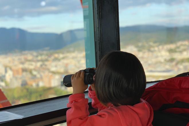 ダウン症児の成長日記 京都タワー 双眼鏡