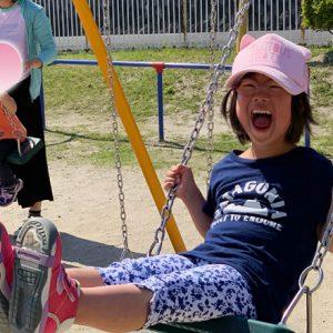 ダウン症児の成長日記 公園 ブランコ