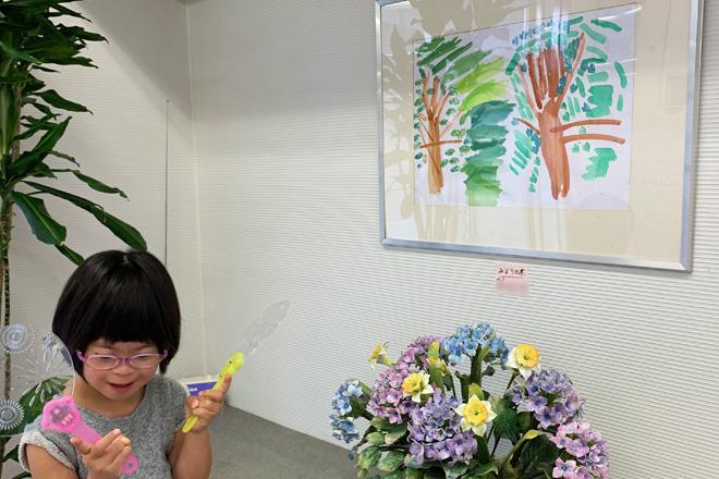 ン症児の成長日記 絵画展示