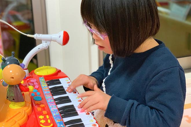 ダウン症児の成長日記 ピアノおもちゃ