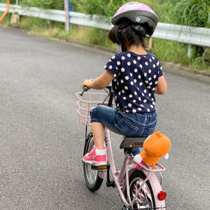 ダウン症児の成長日記 ゴマ付き自転車