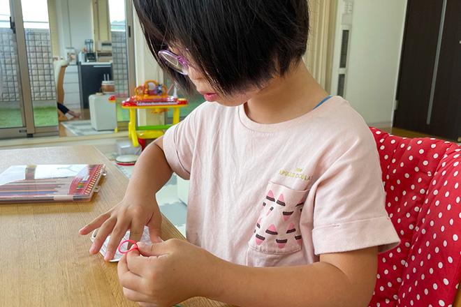 ダウン症児の成長日記 マスク作り