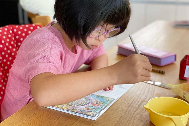 ダウン症児の成長日記 塗り絵