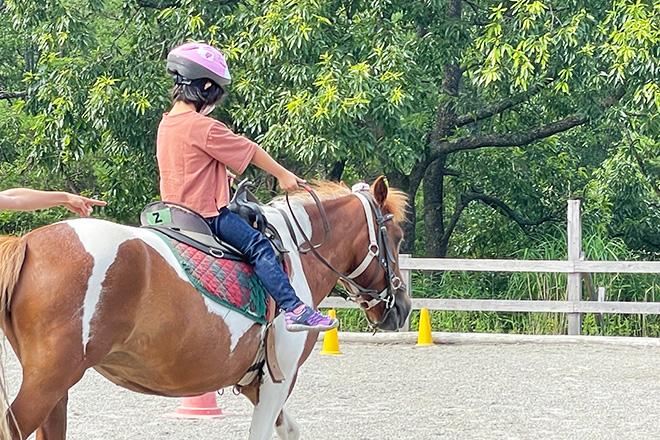 ダウン症児の成長日記 乗馬2